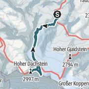 Karte / Dachstein (2.996 m) von Simonyhütte über Randkluftsteig (Normalweg)