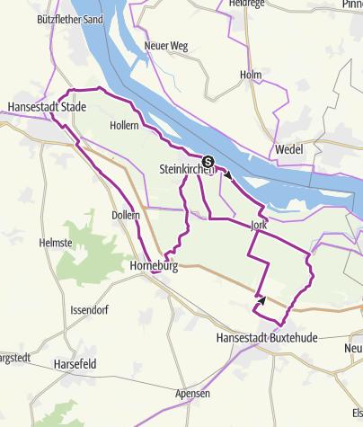 Karte / Obstroute: Altes Land am Elbstrom Radrundroute