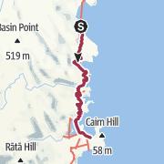 Carte / Nouvelle-Zélande - South island coast track