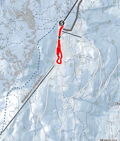 Karte / 241 Brambrüesch-Loipe