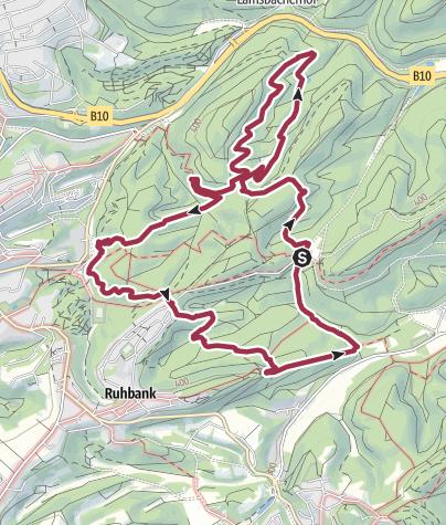Karte / Felsenwaldtour