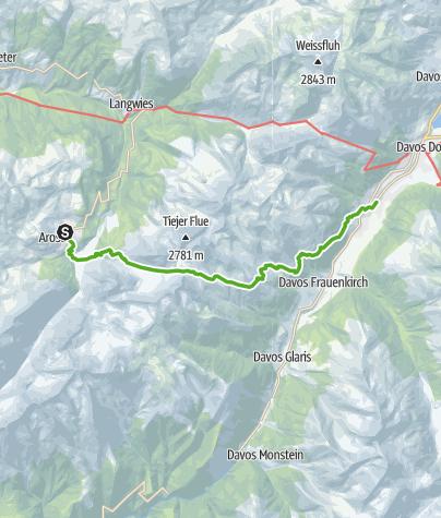 Map / Wals Trail Arosa - Davos