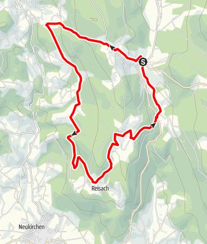 Karte / Hagnberg über Maibrunn und Seign von Grün