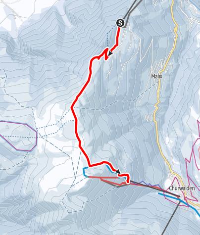 Karte / 533 Brambrüesch-Pradaschier Trail (GR 2)
