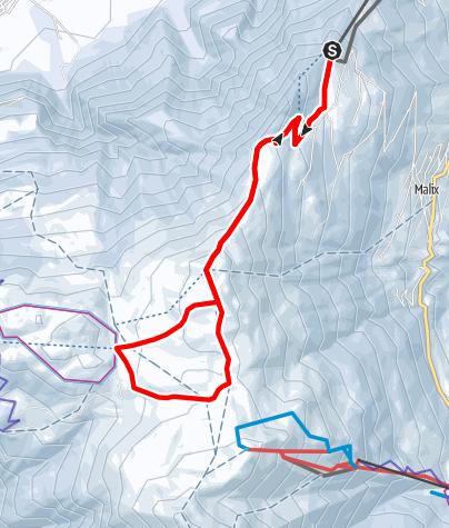 Map / Rundroute Dreibündenstein (GR 4)