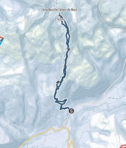 Map / Bocche Peak