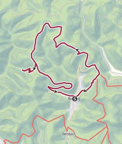 Karte / Die Burgruine Meistersel im Blick