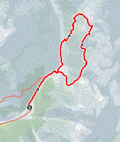 Karte / Spizat (3.038 m) - Einsamer Gipfel hoch über der Oberetteshütte.