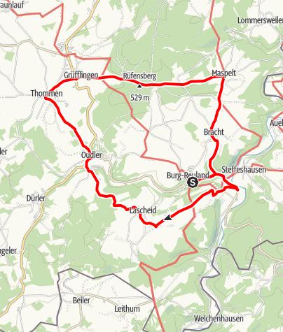 Kaart / Luistertochten - Burg-Reuland