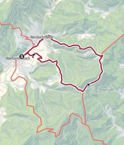 "Karte / Premiumweg ""Harmersbacher Vesperweg"""