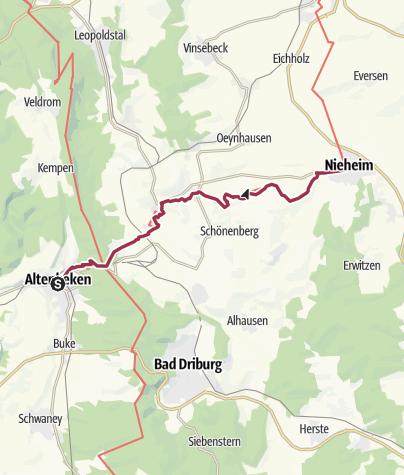 Karte / Emmerweg Altenbeken - Nieheim