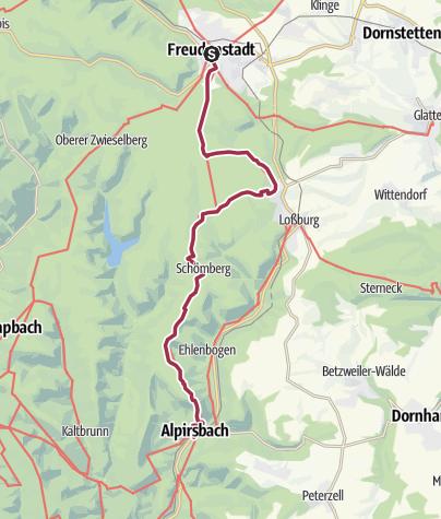 Map / Ostweg Etappe 5: Freudenstadt - Alpirsbach