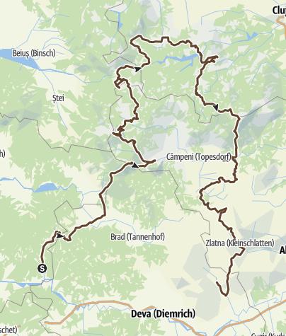 Mapa / Velorusali 2021 Gesamttour