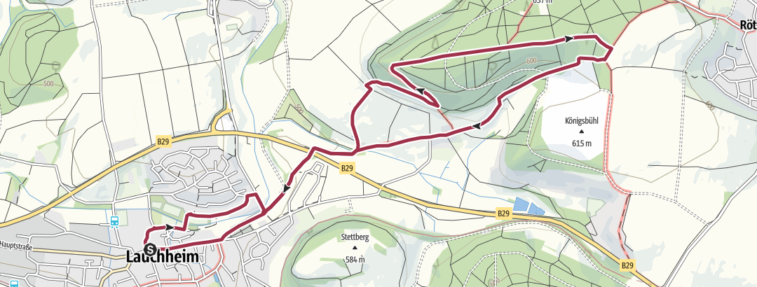Karte / 15 Wanderung zur Ruine Gromberg (7,3 km)