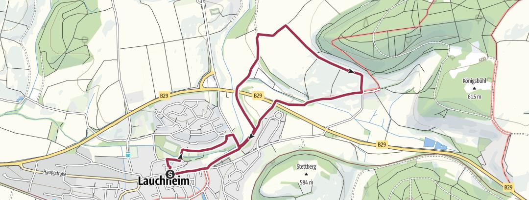 Karte / 18 Über´s Eichenloh zum Sonnenstrahlen tanken (5 km)