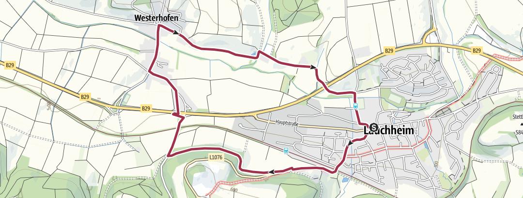 Karte / 19 Rundwanderung über die Schlosshalde nach Westerhofen (6 km)