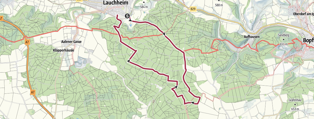 Karte / 23 Zu den Erzgrubenweihern bei Michelfeld (12,5 km)