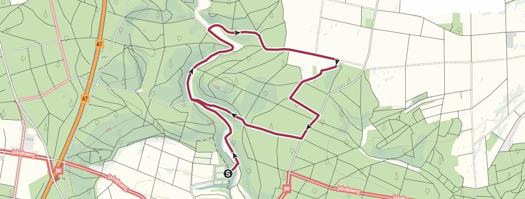 Karte / 25 Wanderung im Krätzental bei Großkuchen (8 km)