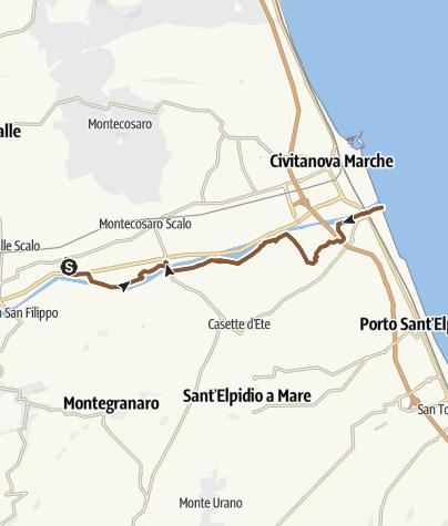 מפה / Trodica - Civitanova Marche A/R