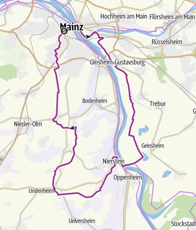 Karte / ADAC GrenzTour Hessen-Pfalz 08: Bahntrassenradeln