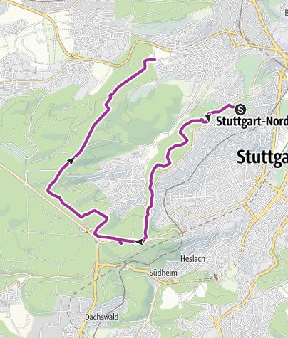 Karte / 0711.GEObiking: Route Birkenkopf