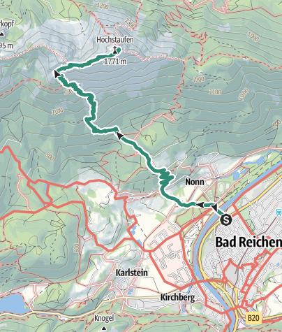 Karte / Hochstaufen über Bartlmahd
