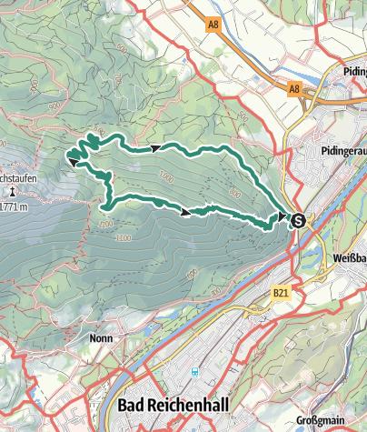 Karte / Fuderheuberg von Staufenbrücke