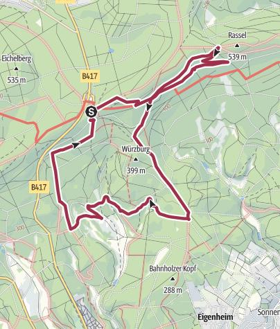 Karte / Wiesbaden Jagdschloss Platte - Rabengrund
