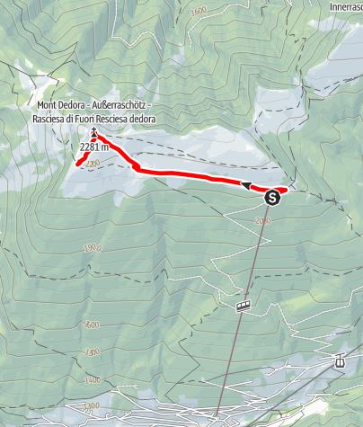 Map / Jogging Resciesa outside