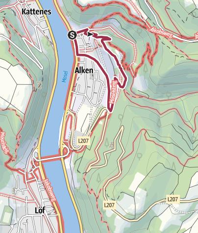 Karte / Mosel-Winter-Wanderung Terrassenmosel (Rund um Alken)