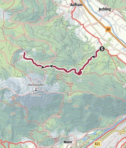 Karte / Über den Pidinger Bergblumengarten zur Steiner Alm