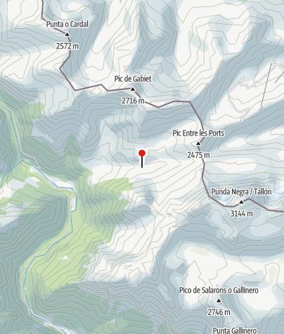 Karte / Cabaña de Eléctricas