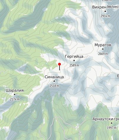 Karte / Hütte Sinanitsa