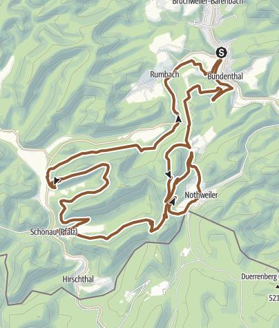 Karte / Bundenthal Tour 15 (Dahn-Süd)