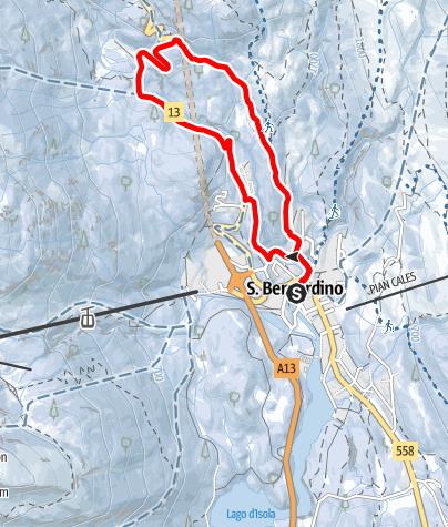 Map / Pont Nef - itinerario invernale (#2)