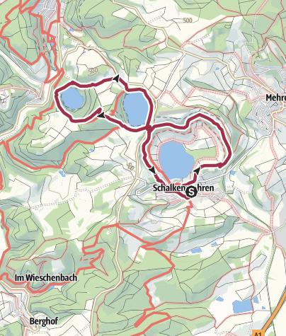 Karte / MICHELS WellnessHotel: Drei-Maare-Tour Schalkenmehren
