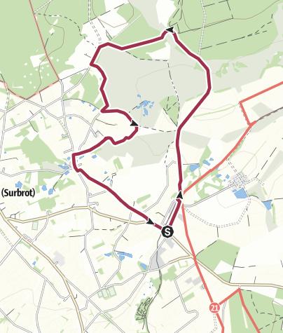 """Map / Genusstour 18 - """"Landschaft im Wind"""" Sourbrodt"""