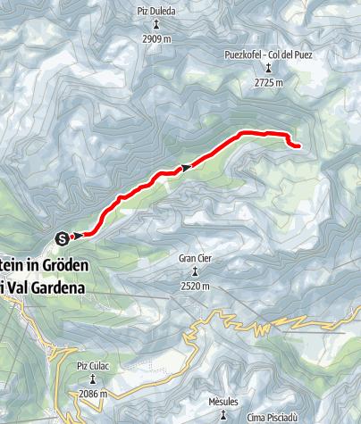 Map / Nordic Walking in Vallunga