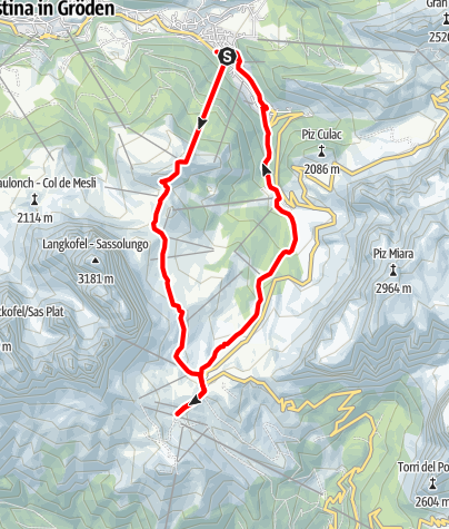 Karte / eBike - mittelschwere Tour: Ciampinoi