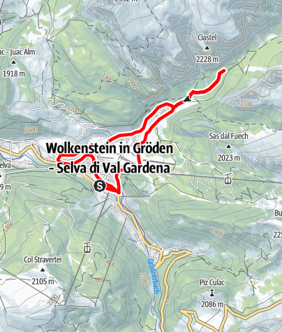 Map / eBike - introductory tour: Vallunga