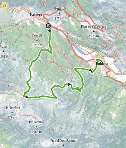 Karte / Piz Turettas