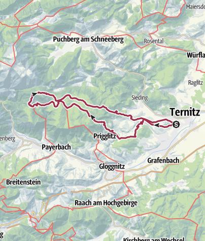 Karte / Krummbachstein von Ternitz aus und Retour