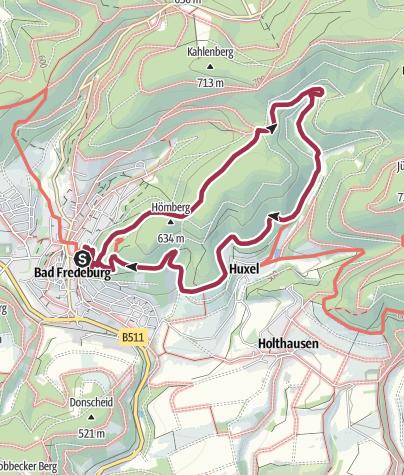 Karte / Bad Fredeburg - Drei Buchen - Sauerland Höhenflug