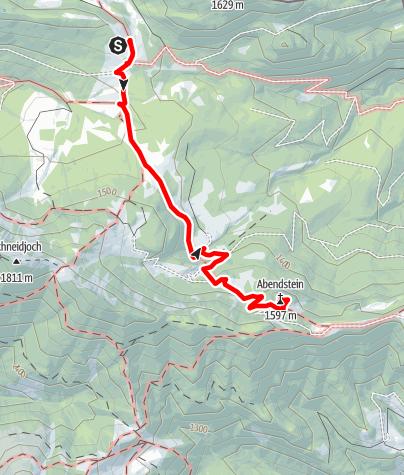 Karte / Kletterfelsen Abendstein