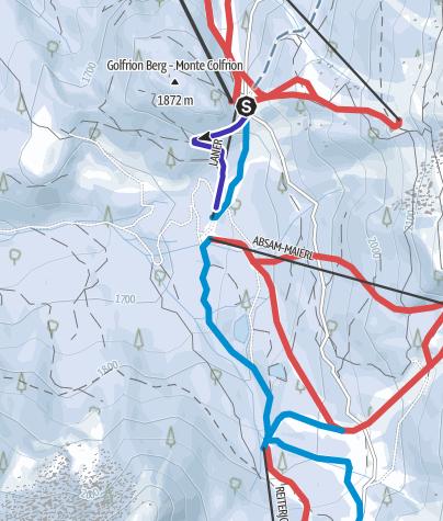 Cartina / Pista per slittino Absam