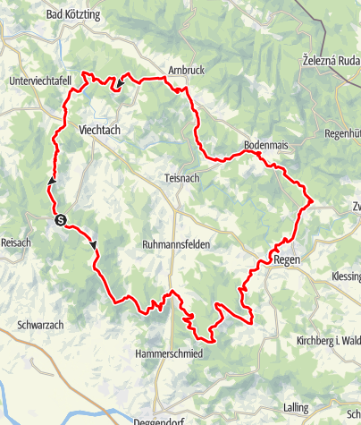 Karte / Arberlandrunden-Abschnitt St. Englmar-Oberbreitenau-Kronberg