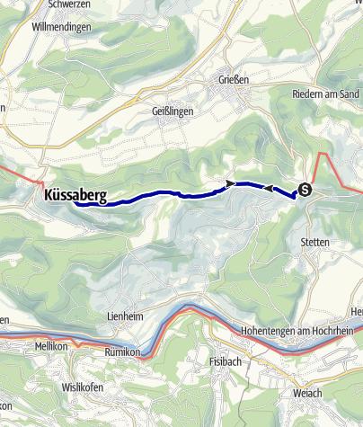Karte / Vom Wanderparkplatz Bergscheuerhöfe zur Küssaburg