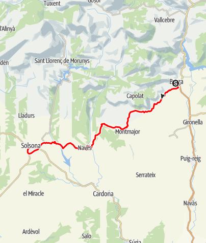 Karte / Tour 14: Berga-Solsona: Tag 3