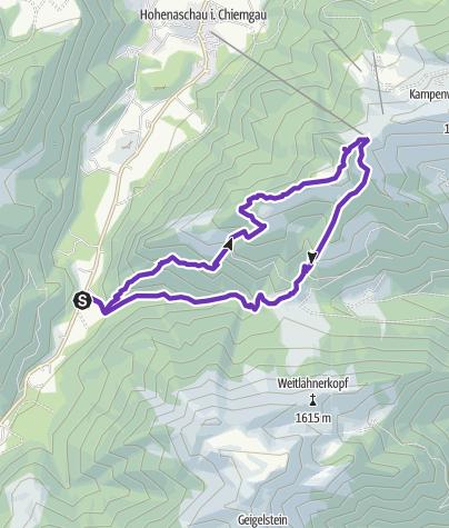 Karte / Sonnwendwand, Bauernwand und Scheibenwand