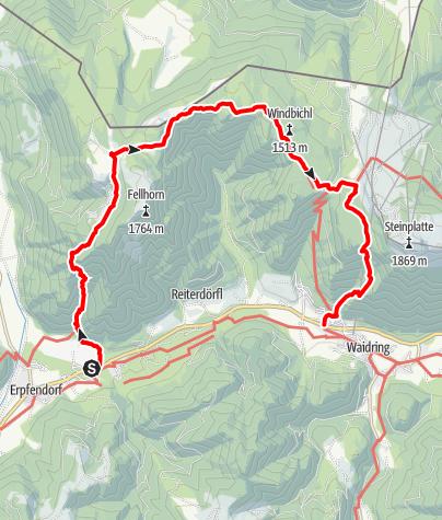 Karte / Straubinger Haus - Rundtour von Erpfendorf